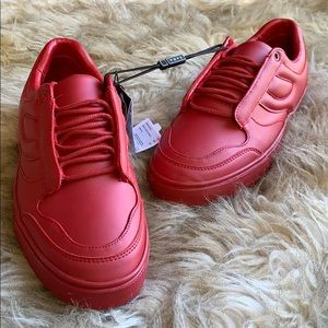 ZARA MAN MATTE ALL RED CASUAL SNEAKERS BNWT
